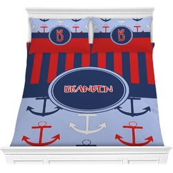 Classic Anchor & Stripes Comforter Set (Personalized)