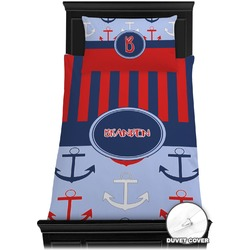 Classic Anchor & Stripes Duvet Cover Set - Toddler (Personalized)