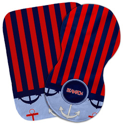 Classic Anchor & Stripes Burp Cloth (Personalized)