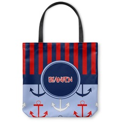 Classic Anchor & Stripes Canvas Tote Bag (Personalized)