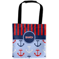 Classic Anchor & Stripes Auto Back Seat Organizer Bag (Personalized)