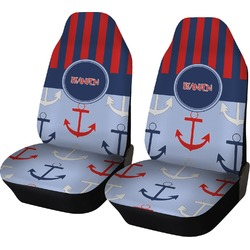 Classic Anchor & Stripes Car Seat Covers (Set of Two) (Personalized)