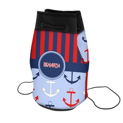 Classic Anchor & Stripes Neoprene Drawstring Backpack (Personalized)