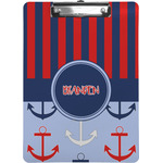 Classic Anchor & Stripes Clipboard (Personalized)