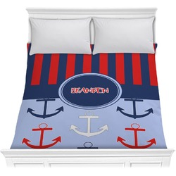Classic Anchor & Stripes Comforter (Personalized)