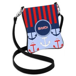 Classic Anchor & Stripes Cross Body Bag - 2 Sizes (Personalized)