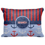 """Classic Anchor & Stripes Decorative Baby Pillowcase - 16""""x12"""" (Personalized)"""