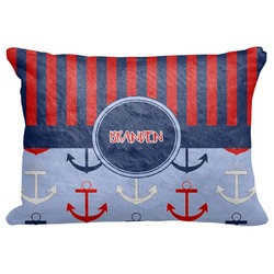 "Classic Anchor & Stripes Decorative Baby Pillowcase - 16""x12"" (Personalized)"