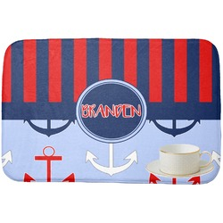 Classic Anchor & Stripes Dish Drying Mat (Personalized)
