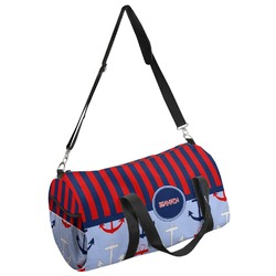 Classic Anchor & Stripes Duffel Bag (Personalized)