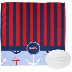 Classic Anchor & Stripes Wash Cloth (Personalized)