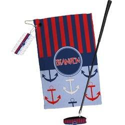 Classic Anchor & Stripes Golf Towel Gift Set (Personalized)