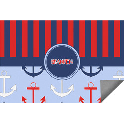 Classic Anchor & Stripes Indoor / Outdoor Rug (Personalized)