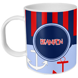 Classic Anchor & Stripes Plastic Kids Mug (Personalized)