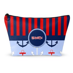 Classic Anchor & Stripes Makeup Bags (Personalized)