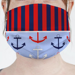 Classic Anchor & Stripes Face Mask Cover (Personalized)