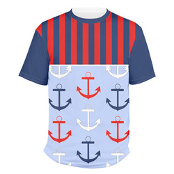 Classic Anchor & Stripes Men's Crew T-Shirt (Personalized)