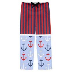Classic Anchor & Stripes Mens Pajama Pants (Personalized)