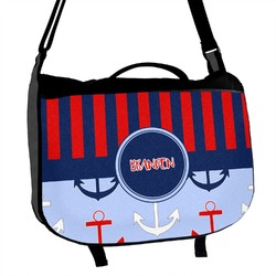 Classic Anchor & Stripes Messenger Bag (Personalized)