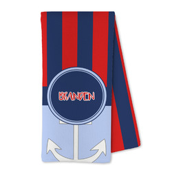 Classic Anchor & Stripes Microfiber Kitchen Towel (Personalized)
