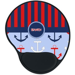 Classic Anchor & Stripes Mouse Pad with Wrist Support