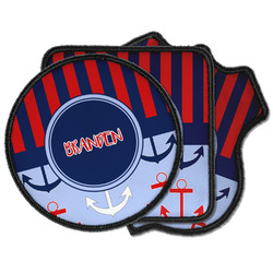 Classic Anchor & Stripes Iron on Patches (Personalized)