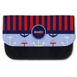 Classic Anchor & Stripes Canvas Pencil Case w/ Name or Text