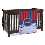 Classic Anchor & Stripes Baby Blanket (Personalized)
