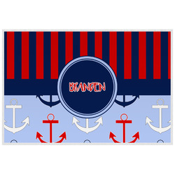 Classic Anchor & Stripes Laminated Placemat w/ Name or Text