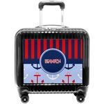 Classic Anchor & Stripes Pilot / Flight Suitcase (Personalized)
