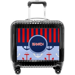 Classic Anchor & Stripes Pilot / Flight Suitcase (Personalized)