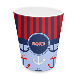 Classic Anchor & Stripes Plastic Tumbler 6oz (Personalized)