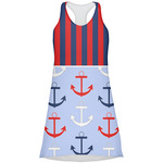 Classic Anchor & Stripes Racerback Dress (Personalized)
