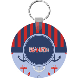 Classic Anchor & Stripes Keychains - FRP (Personalized)