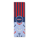 Classic Anchor & Stripes Runner Rug - 3.66'x8' w/ Name or Text