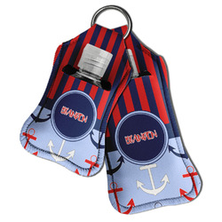 Classic Anchor & Stripes Hand Sanitizer & Keychain Holder (Personalized)