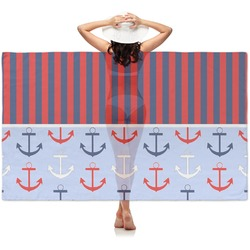 Classic Anchor & Stripes Sheer Sarong (Personalized)