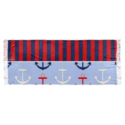 Classic Anchor & Stripes Faux Pashmina Scarf (Personalized)