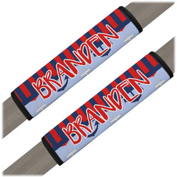 Classic Anchor & Stripes Seat Belt Covers (Set of 2) (Personalized)