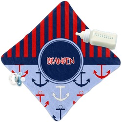 Classic Anchor & Stripes Security Blanket (Personalized)