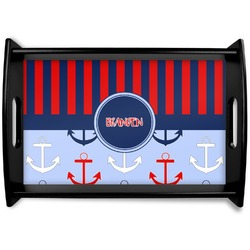 Classic Anchor & Stripes Wooden Trays (Personalized)