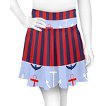 Classic Anchor & Stripes Skater Skirt (Personalized)