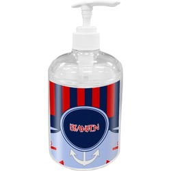 Classic Anchor & Stripes Acrylic Soap & Lotion Bottle (Personalized)