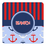 Classic Anchor & Stripes Square Decal (Personalized)