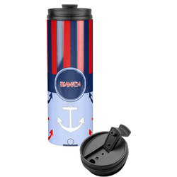 Classic Anchor & Stripes Stainless Steel Tumbler (Personalized)