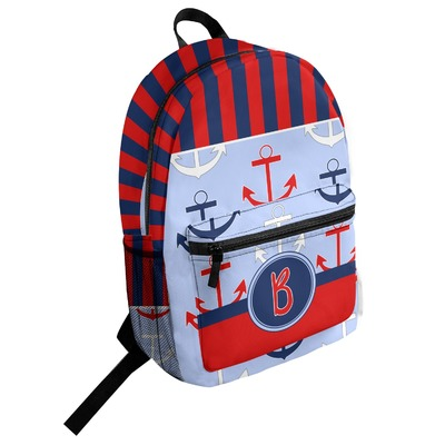 Classic Anchor & Stripes Student Backpack (Personalized)