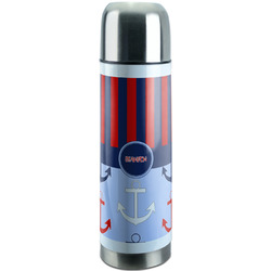 Classic Anchor & Stripes Stainless Steel Thermos (Personalized)