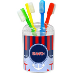 Classic Anchor & Stripes Toothbrush Holder (Personalized)