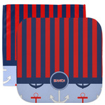 Classic Anchor & Stripes Facecloth / Wash Cloth (Personalized)