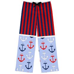 Classic Anchor & Stripes Womens Pajama Pants (Personalized)
